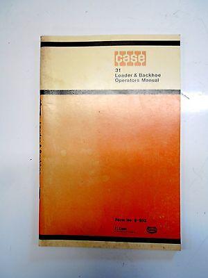 Case 31 Loader Backhoe Operators Manual  9-933