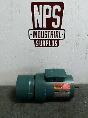 Nos Reliance Ac Electric Motor W Brake 1 Hp 1730 Rpm P14h1966-un 3 Phase E3