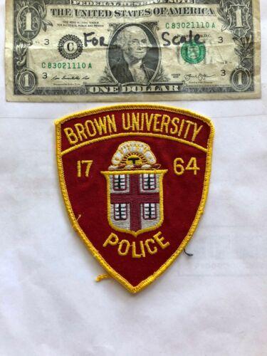 Brown University Rhode Island Police Patch pre-sewn great shape
