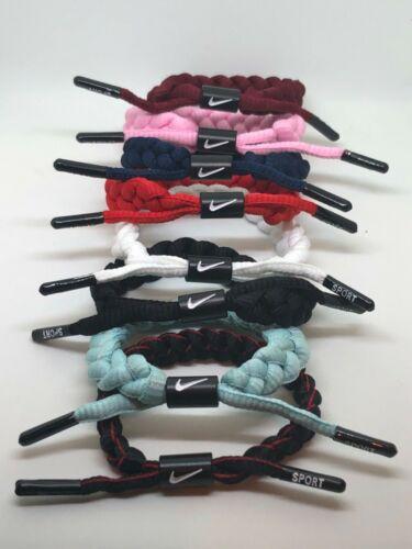 NIKE Unisex Shoelace Bracelet / Wristband 8 To Choose From