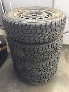 4 185/70R14 Arctic Claw Winter Tires On 4-100mm Steel Rims