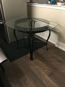 Round glass table  45 inch