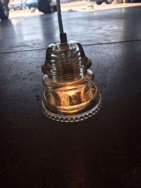 Antique Hemingray No.42 Predrilled Glass Insulator Light Lamp Clear 100 Availabl