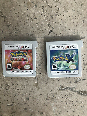 Pokemon X and Pokemon Omega Ruby 3DS Games
