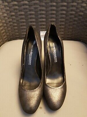 Kennel schmenger Silvery /black 100% leather Suede Shoes Size 7