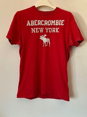 Mens Abercrombie & Fitch T-shirt Red Size Large