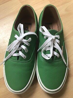 vans Ladies Green Leather Shoes uk 4.5/37