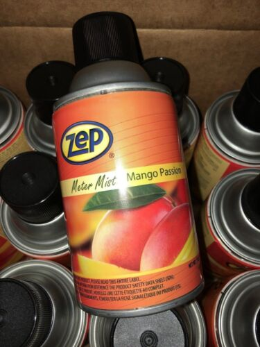 Zep Meter Mist Mango Passion Air Freshener 6.5 Oz Lot Of 12 cans