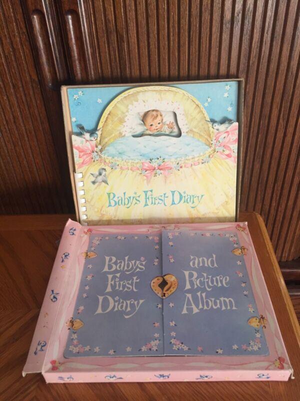 Vintage 1960 Baby Keepsake Book