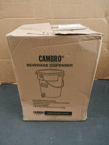 New Cambro DSPR6148 White 6 Gal Beverage Dispenser