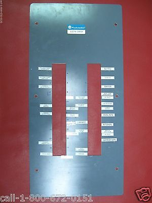 Used 200 Amp Pushmatic Electri-center Bulldog Panel Cover 40 Space