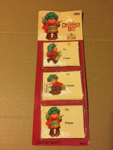 VINTAGE CHRISTMAS PAPER MAGIC GROUP THE LITTLE DRUMMER BOY 15 GIFT TAGS NOS NIP