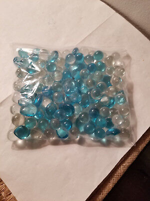 Glass Beads For Vases (Bag of Aqua and Glass Beads for Vases, Weddings,)
