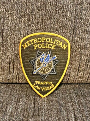 LAS VEGAS METRO POLICE PATCH NEVADA LVMPD TRAFFIC SUPER RARE MOTORCYCLE BIKE