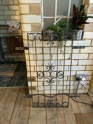 Antique wrought iron metal window bars
