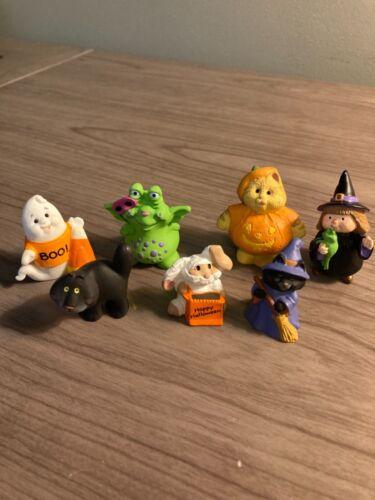 Hallmark Halloween Merry Miniatures lot of 7, Witch, Ghost, Black Cat ++