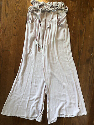 NWOT Free People One Lavender Rayon Gauze Pants S