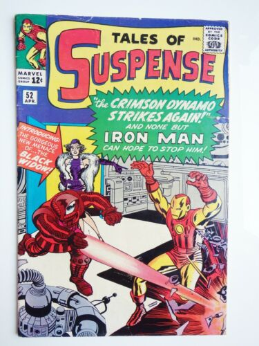 MARVEL COMICS APRIL 1964 TALES OF SUSPENSE # 52 1ST APPEARANCE  BLACK WIDOW