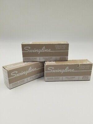 3 Swingline Staples For Standard Staplers 5000 Count Chisel Point Ln 14
