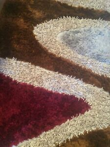 Red, Grey, and Brown Rug