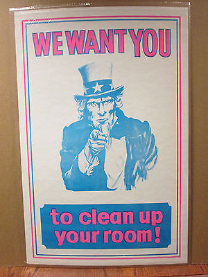 Vintage We Want you To Clean Your Room! Uncle Sam  6864