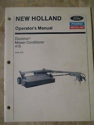 Ford New Holland 415 Discbine Operators Manual 42041510