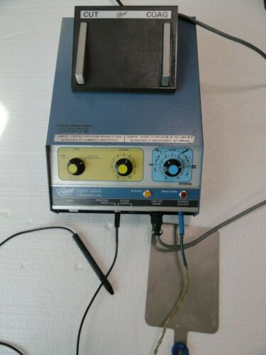 Bovie Specialist Cautery ESU Electrosurgical Controller Surgical w accessories.