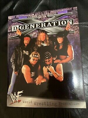 WWF DX Degeneration X HHH Chyna Xpac Dogg Gunn 3 Ring Binder Folder 1999 WWE