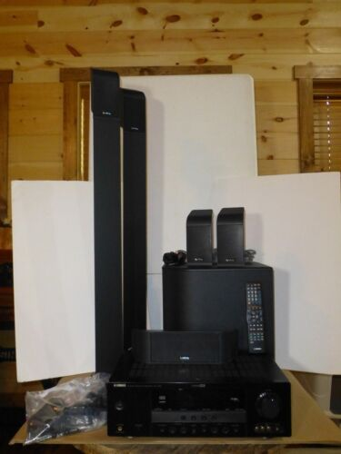 Yamaha and Infinity Black Surround Sound Entertainment System