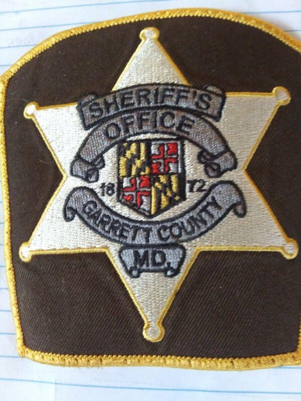 Police Patch Garrett County, Maryland