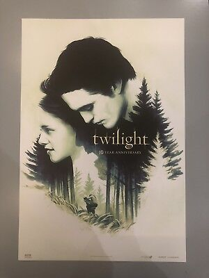 "Twilight 10th Year Anniversary Fathom Events Exclusive Poster, 13 X 15"" AMC"