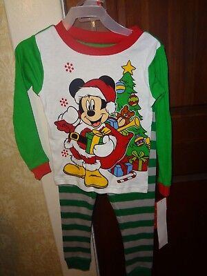 New Disney Mickey Mouse Christmas holiday Toddler boys pajamas 4t  (Holiday Toddler Pajamas)