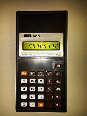 VINTAGE RARE HD900 LIQUID CRYSTAL CALCULATOR #117614 JAPAN