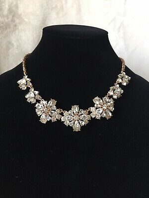 Rose Gold Tone Crystal Floral Cluster Necklace by Charter Club - NEW!! ()
