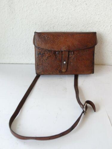 Fine Swiss Army Military Leather Shoulder Bag Card Holder ~1950 Officier