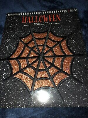 Halloween Spider Web  Iron on Applique/Embroidered Patch - Iron On Halloween Appliques