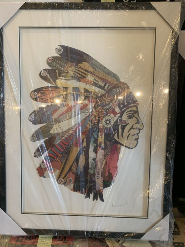Indian Chief Collage Wall Art By Leonardo