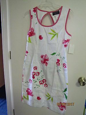 NWT Classic Carol Anderson Collection Ladies Floral Garden Party SunDress 4 $108