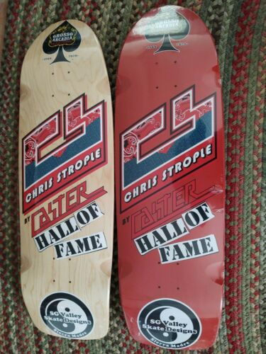 CASTER Chris Strople 2020 hall of fame  skateboard deck red dogtown sims alva