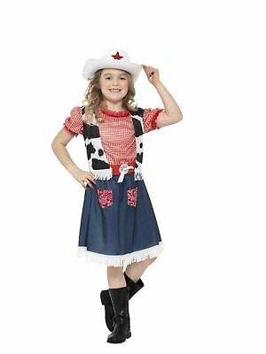 Cowgirl Sweetie Childrens Girls Fancy Dress Costume Party Outfit Kids Wild West