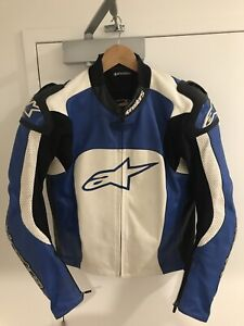 Alpinestars motorcycle leather riding jacket excellent condition s50