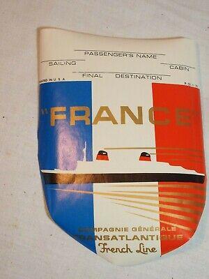 rare étiquette de bagage paquebot France French Line datée 1971 production US segunda mano  Embacar hacia Argentina