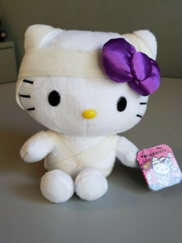"Hello Kitty 6"" Mummy Plush Sanrio Zombie Halloween 2020 New w/ Tags"