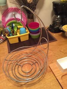 Stainless Steel Fruit Basket and Banana Hanger