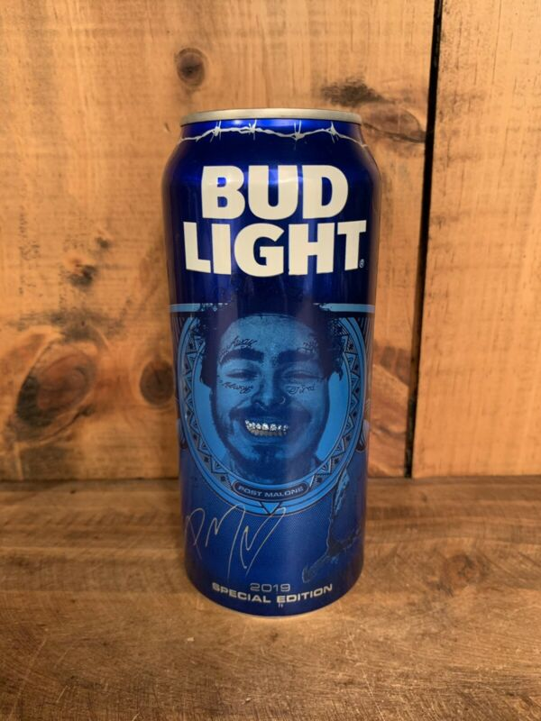 Post Malone Bud Light 16oz Can Empty Unopened Tab Hollywood's Bleeding