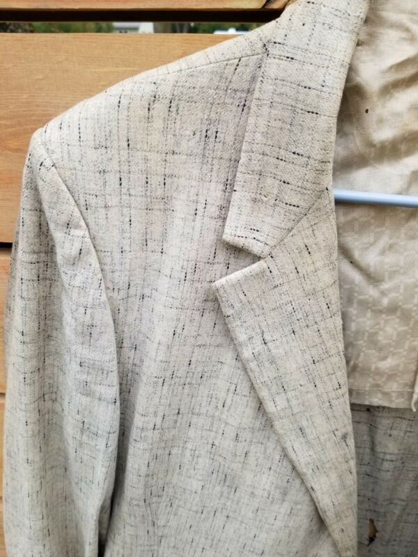 Vintage 1950s Mens Sport Jacket Suit VLV Atomic Summer Destroyed as-is Flecked