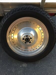 Harley fatboy front wheel and tire