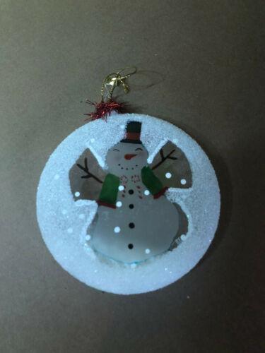 "Snowman Snow Angel Christmas Ornament 4"""