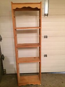 Shelf/bookcase with heart cut outs on side.  Kitchener / Waterloo Kitchener Area image 2