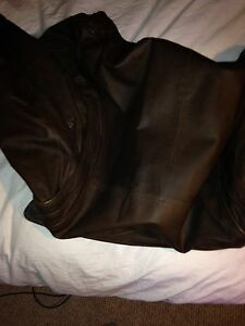 LEATHER JACKET BROWN OBO